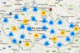 mapa pivovarů