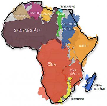 skutečná velikost Afriky