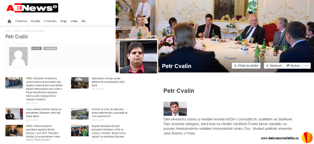 Petr Cvalin - public info