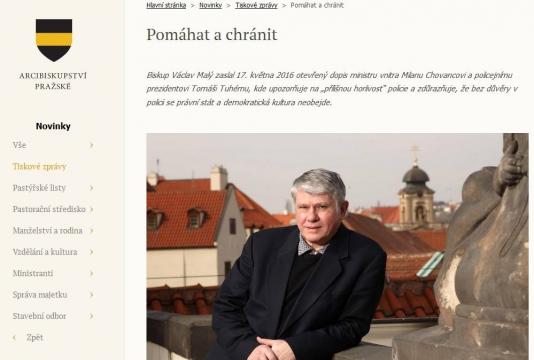 Mons. Malý - TZ - smazána z webu arcibiskupství1
